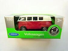 Welly VW T1 rot weiß in 1:60  Neu & OVP