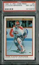 PSA 8 1990 Opeechee OPC Premier Jean Claude Bergeron #4 Montreal Canadiens