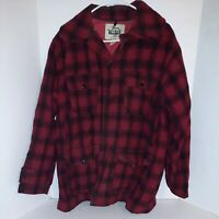 Vintage Woolrich Red Buffalo Plaid Wool Duck Hunting Jacket Coat Mens Size 42