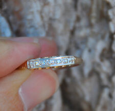 "OLD VINTAGE 14K SOLID GOLD RING BAND WITH DIAMONDS - MARKED ""LORDS QUALITY"""