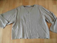 CHAMPAGNE ligne schönes Leinenshirt zur Hose taupe EG w. NEU HMI416