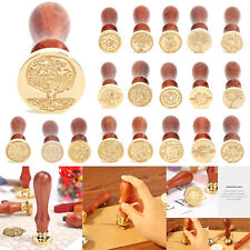 Retro DIY Sealing Wax Wooden Handle Fire Painting Envelope Wedding Cards Stamps