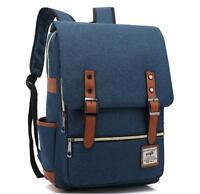 Men Canvas School Backpack Laptop Travel Rucksack Satchel Shoulder Bag Fashion