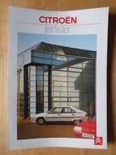 CITROEN BX 16 RE 1987 UK Mkt sales brochure