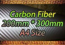 Fibra De Carbono Plata Vinilo Hoja pegatina A4 200 * 300mm