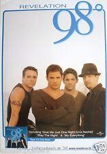 "98 Degrees ""Revelation"" Thailand Promo Poster - R&B, Soul, Urban, Pop Music"