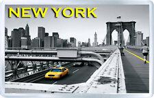 NEW YORK BROOKLYN BRIDGE FRIDGE MAGNET SOUVENIR IMÁN NEVERA