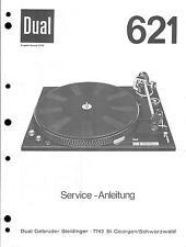 Dual Service Manual für 621  .