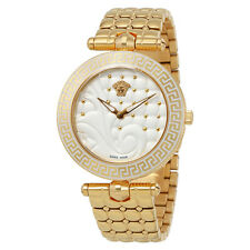 Versace Vanitas Silver Dial Rose Gold-tone Ladies Watch VK7240015
