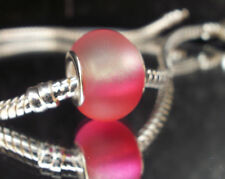 Edler Glas Bead Element Fuchsia Pink für Armband 0452