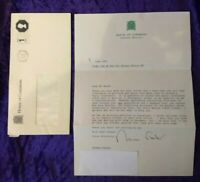 1991 signed letter from British Politician Sir Norman Fowler