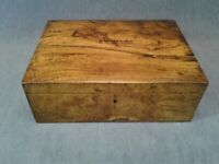 Unique Burled Wood Box with Lid