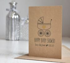 Personalised Handmade Baby Shower / Christening / Baptism Card, Rustic Style