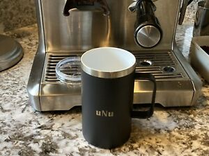 16oz Stainless steel insulated coffee mug ceramic lined, handle and lid - Black
