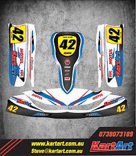 Tony Kart OTK M6 full custom KART ART sticker kit STORM STYLE / graphics