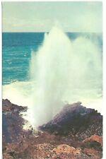 BLOW HOLE Salt Water Geyser HI 1950s Plastichrome/Lum & Feher, Photo Werner Stoy