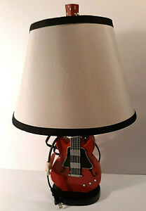 Guitar Desk Lamp, Night Stand Light , Height 17""