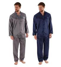 Mens Lightweight Satin Pyjama Set