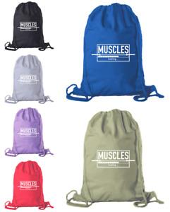 Cotton Drawstring Gym Bag Motivational Backpack for Workouts Locker Bag for gym