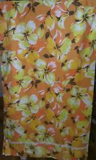 "Vintage Retro Curtains floral Vw Camper van material cotton 43.5"" x 51"" drop"