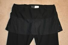 NIKE Women's Poly Spandex Skirted Capri Leggings Black Size Large 12/14