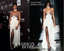TOM FORD Rihanna Gown amfAR Spring 2015 Long Dress Open Back Jersey Silk size 38