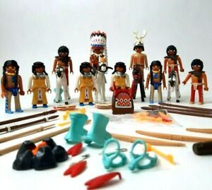 Playmobil Native Indian Tribe Horse Toy Set Chief Warriors Geobra Germany