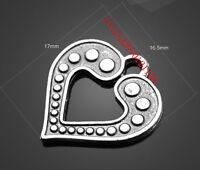 PJ1179  20pc Retro Tibetan Silver( love heart )Jewelry Accessories wholesale