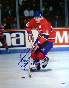 LARRY ROBINSON SIGNED AUTOGRAPHED 11x14 PHOTO MONTREAL CANADIENS PSA/DNA