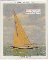 """Lalage"" 6 Meter Class Racing Yacht Sailboat  1930s Ad Trade Card"