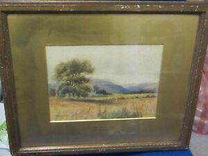 c 1880 Watercolour of the Winster Valley near Grange over Sands by C.Pettit