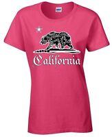 California Bandana Bear Ladies T-shirt California Tee
