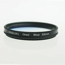 52mm Graduated Blue Color Filter for Nikon D5100 D3100 D3000 50mm f1.4D 18-55mm