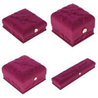 4x Violet Pendentif Anneau Bracelet Bracelet Collier Organisateur de Bijoux