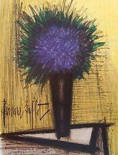 BUFFET Bernard (1928-1999) Original Lithographie 1967 : Der violette Strauss