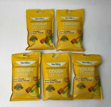 (5 Pack) HERBION All Natural Relieves Cough Drops in Honey Lemon - 25 Drops/Each