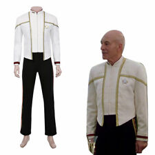 Star Trek Jean Luc Picard Cosplay Costume Jacket Pants Outfits Uniform