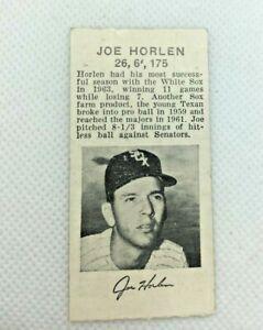 1964 Sept 29: Chicago White Sox v Yankees J. Horlen Photo Ticket Wilhelm SV26