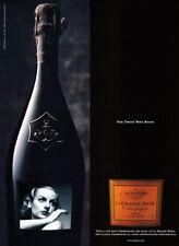 La Grande Dame Champagne print ad 2000 - vintage photo of Garbo? on bottle