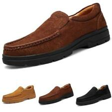Men's Outdoor Hiking Faux Leather Shoes Pumps Slip on Climbing Sports Walking L