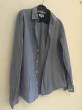 Pull And bear Mens Blue And White Striped Shirt Size Medium