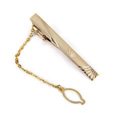 Wedding Groom Men Gold Neck Tie Pin Necktie Clip Clasp Bar Fashion Decor