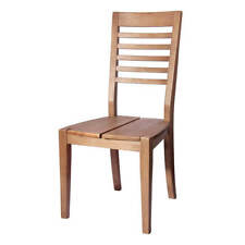 Stuhl 2er Set in Pinie gebürstet Massiv Holzstuhl Esszimmerstuhl Massivholz Neu