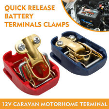 Pair 12V Quick Release Battery Terminals Clamps For Car/Boat/Camping/ Caravan