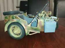1/9 BMW R75 PRO Built German Motorcycle with Sidecar MG34 WWII ITALERI