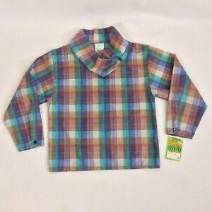 Wrangler Girls Plaid Shirt Blouse Longsleeves Blue Multicolor Size S