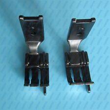 """2 PCS # Double Needle PRESSER FOOT 1/4"""" SPRING LOADED GUIDE FOR SINGER 112W 212W"""