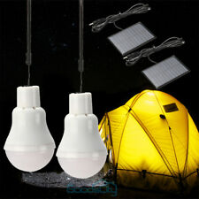 2x Portable Solar Power LED Bulb Lamp Outdoor Lighting Camp Tent Fishing Light
