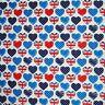 Patriotic Red White & Blue Union Jack Hearts 100% Cotton Fabric