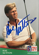Hal Sutton Signed 1990 Pro Set Card